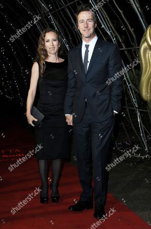 Bafta Nominees Party at Kensington Palace Edward Norton with His Wife Shauna Robertson