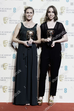 British Academy Film Awards at the Royal Opera House- Press Room Caroline Bartleet and Rebecca Morgan (best British Short Film 'Operator')