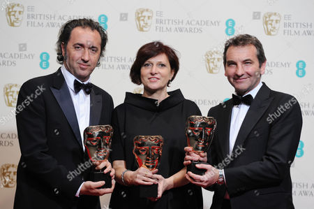 Ee British Academy Film Awards Press Room at the Royal Opera House Paolo Sorrentino Nicola Giuliano Francesca Cima Collect the Award For Best Film not in the English Language For 'The Great Beauty'