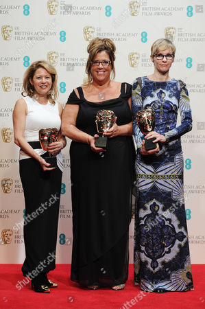 Ee British Academy Film Awards Press Room at the Royal Opera House Evelyne Noraz Lori Mccoy-bell and Kathrine Gordon - Winners of the Award For Best Make Up & Hair For 'American Hustle'