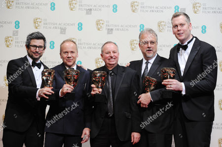 Ee British Academy Film Awards Press Room at the Royal Opera House Glenn Freemantle Skip Lievsay Christopher Benstead Niv Adiri and Chris Munro - Collect the Award For Best Sound For 'Gravity'