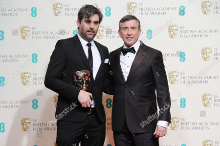 Ee British Academy Film Awards Press Room at the Royal Opera House Kieran Evans Collects the Award For Best Outstanding Debut (director/writer) For 'Kelly+victor Presented by Steve Coogan