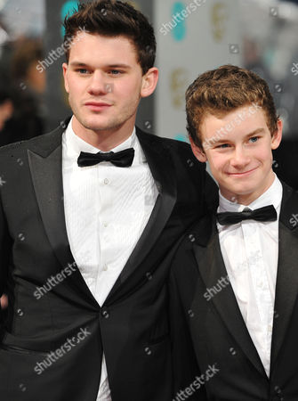 Ee British Academy Film Awards Outside Arrivals at the Royal Opera House Jeremy Irvine with His Brother Toby Irvine