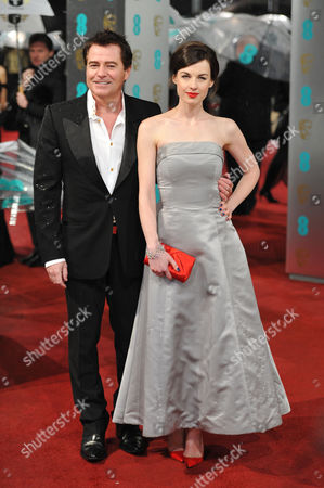 Ee British Academy Film Awards Outside Arrivals at the Royal Opera House Charles Worthington and Jessica Raine