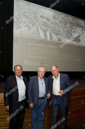 Bafta Heritage Screening of Shadowlands to Celebrate Lord Attenborough's 90th Birthday Held at Bafta Piccadilly Chairman of Bafta John Willis with Michael Attenborough and William Nicholson