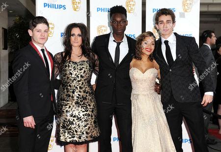 Bafta Television Awards Arrivals at the Grosvenor House Hotel Misfits - Iwan Rheon Lauren Socha Nathan Stewart-jarrett Antonia Thomas Robert Sheehan