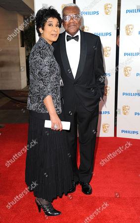 Bafta Television Awards Arrivals at the Grosvenor House Hotel Moira Stuart and Trevor Mcdonald