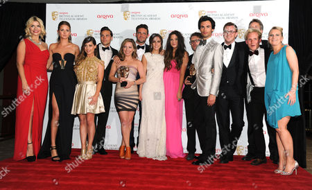 Arqiva Bafta Television Awards Press Room at the Royal Festival Hall Made in Chelsea - Millie Mackintosh Louise Thompson Andy Jordan Francis Boulle Spencer Matthews Mark Francis Vandelli Jamie Laing Sarah Dillistone David Granger John Pereira Ros Coward - Winner of Best Reality and Constructed Factual Programme with Presenter Holly Willoughby