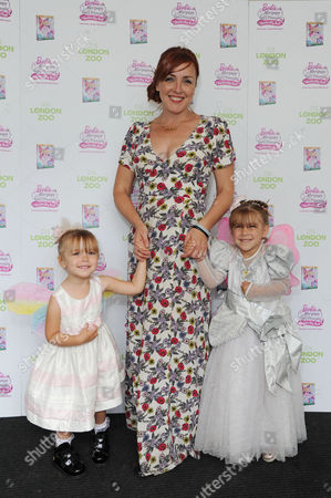 Carli Norris with Her Daughters Lola and Besty Visit Zsl London Zoo to Celebrate the Release of Barbieª Mariposa & the Fairy Princess On Blu-ray and Dvd From August 26th