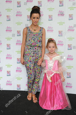 Stock Photo of Nicola Tappenden with Her Daughter Poppy Visit Zsl London Zoo to Celebrate the Release of Barbieª Mariposa & the Fairy Princess On Blu-ray and Dvd From August 26th