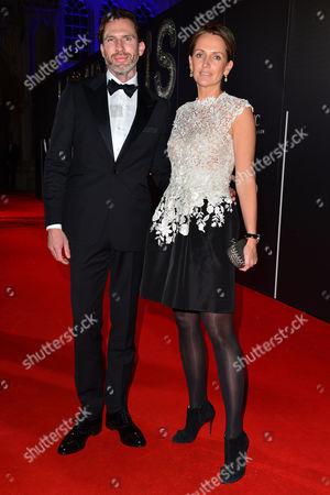 Stock Image of Bfi Luminous Gala Dinner at Guildhall Saffron Aldridge with Her Brother Miles Aldridge