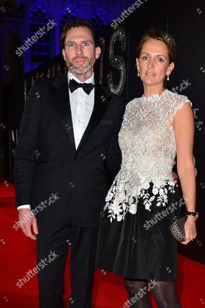 Bfi Luminous Gala Dinner at Guildhall Saffron Aldridge with Her Brother Miles Aldridge