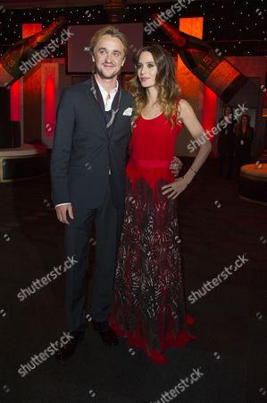 British Independent Film Awards 2012 at the Old Billingsgate Market Tom Felton and Girlfriend Jade Olivia Gordon