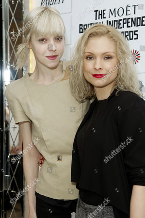 Moet British Independent Film Bifa Nominations at the Mayfair Hotel Antonia Campbell-hughes and Myanna Buring