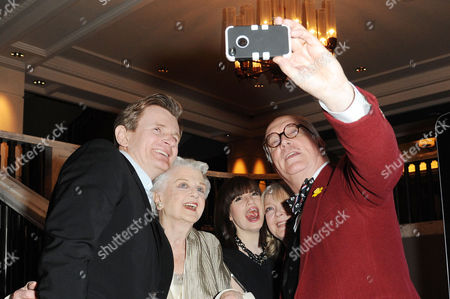 Blithe Spirit Press Night at the Gielgud Theatre and Afterparty at the Rosewood Hotel Holborn Charles Edwards Angela Lansbury Jemima Rooper Serena Evans and Simon Jones