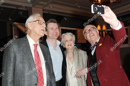 Blithe Spirit Press Night at the Gielgud Theatre and Afterparty at the Rosewood Hotel Holborn Director Michael Blakemore Charles Edwards Angela Lansbury and Simon Jones
