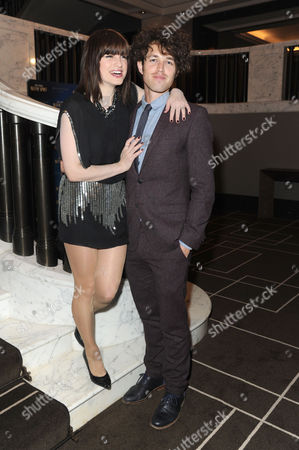 Blithe Spirit Press Night at the Gielgud Theatre and Afterparty at the Rosewood Hotel Holborn Jemima Rooper with Her Boyfriend Ben Ockrent