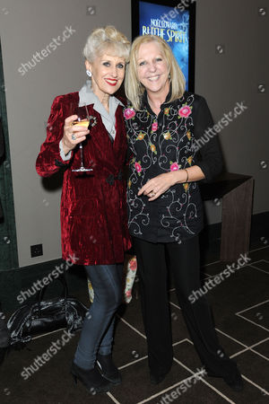 Blithe Spirit Press Night at the Gielgud Theatre and Afterparty at the Rosewood Hotel Holborn Anita Dobson and Nichola Mcauliffe
