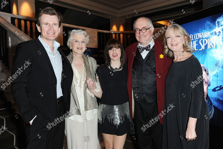 Blithe Spirit Press Night at the Gielgud Theatre and Afterparty at the Rosewood Hotel Holborn Charles Edwards Angela Lansbury Jemima Rooper Simon Jones and Serena Evans