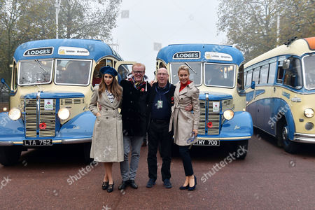 Bonham's London to Brighton Veteran Car Run Start Line at Hyde Park Corner Alex Jones Chris Evans Ken Bruce and Natalie Lowe
