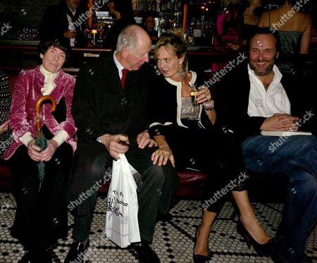 Book Launch Party For 'Table Talk' at Luciano St James Street Lady Serena Rothschild and Lord Jacob Rothschild with Countess Maya Von Schonburg (flick) and David Macmillan