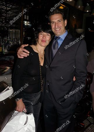 Book Launch Party For 'Table Talk' at Luciano St James Street Christiane Amanpour with Her Husband James Rubin