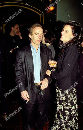 Book Publication Party For Martin Amis's Book 'The Information' at the Cobham Working Mans Club Martin Amis with His Wife Isabel Fonseca