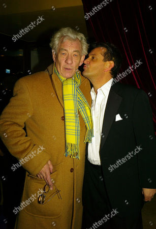Stock Image of Brief Encounter Press Show at at the Cinema On the Haymarket the Haymarket Sir Ian Mckellan with the Shows Producer David Pugh