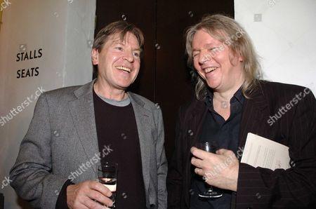 1st Night of Brighton Rock at the Almeida Theatre Islington Alan Price & Christopher Hampton