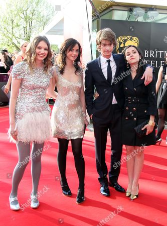 British Academy Television Awards at the Royal Festival Hall Hannah Murray Kaya Scodelario Andrew Garfield with with His Girlfriend Shannon Marie Woodward