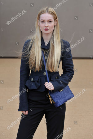 Stock Photo of Burberry Fashion Show Arrivals at Perks Field; Kensington Park During Aw15 London Fashion Week Hannah Dodd