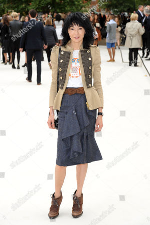 Burberry Ss2012 Collection Arrivals During London Fashion Week 2012 at Kensington Gardens Maggie Cheung