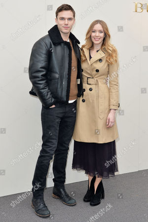 Burberry Aw16 Arrivals at Kensington Gardens Nicholas Hoult with His Sister Rosanna Hoult
