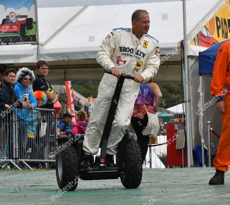 Overtone Uk 28th August 2016: Jody Scheckter On A Segway During the Carfest South at Laverstoke Park Farm Overton Hampshire in Aid of Bbc's Children in Need Overton Uk 28th August 2016 0208 004 5359/07711972644 Editorsatsilverhubmedia Com