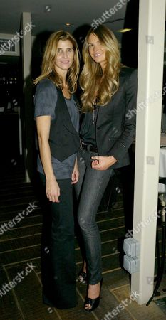 Cartier Dinner Party at Shoreditch House For an Intimate Dinner to Celebrate the Artists Commissioned For the 2007 Frieze Art Fair Curatorial Hrh Princess Rosario of Bulgaria with Elle Macpherson