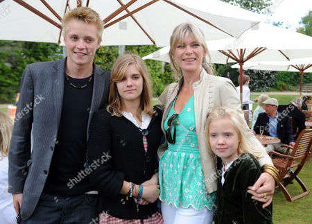 Stock Picture of Cartier Style Et Luxe at Goodwood Festival of Speed Goodwood. Rufus Taylor, Tigerlily Taylor and Lola Daisy May Leng Taylor with Deborah Leng