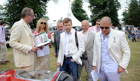 Cartier Style Et Luxe at Goodwood Festival of Speed Goodwood Uk the Judges Maryam D'abo Roger Taylor Tom Aikens Lord Foster and Jonathan Ive