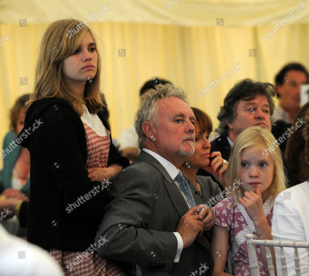 Cartier Style Et Luxe at Goodwood Festival of Speed Goodwood Uk Roger Taylor with His Daughters Tigerlily Taylor and Lola Daisy May Leng Taylor