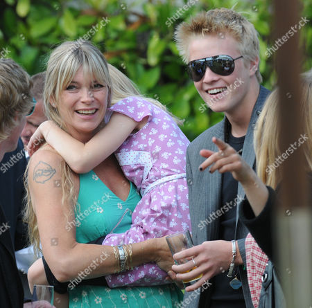 Stock Image of Cartier Style Et Luxe at Goodwood Festival of Speed Goodwood. Deborah Leng with son Rufus Taylor and Lola Daisy May Leng Taylor