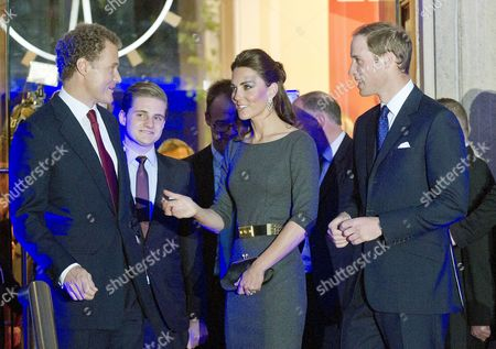 Reception to Launch the Imperial War Museum Foundation's First World War Galleries Centenary Campaign at the Imperial War Museum Lambeth Road Lord Jonathan Rothermere with His Son Hon Vere Rothermere and Prince William Duke of Cambridge with His Wife Catherine Duchess of Cambridge