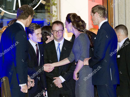 Reception to Launch the Imperial War Museum Foundation's First World War Galleries Centenary Campaign at the Imperial War Museum Lambeth Road Lord Jonathan Rothermere with His Wife Lady Claudia Rothermere Their Son Hon Vere Rothermere and Prince William Duke of Cambridge with His Wife Catherine Duchess of Cambridge