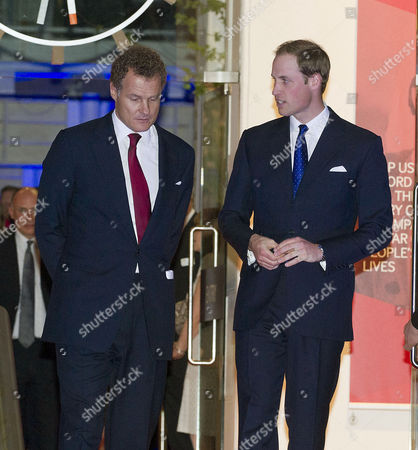 Reception to Launch the Imperial War Museum Foundation's First World War Galleries Centenary Campaign at the Imperial War Museum Lambeth Road Lord Jonathan Rothermere and Prince William Duke of Cambridge