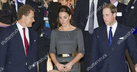 Reception to Launch the Imperial War Museum Foundation's First World War Galleries Centenary Campaign at the Imperial War Museum Lambeth Road Lord Jonathan Rothermere and Prince William Duke of Cambridge with His Wife Catherine Duchess of Cambridge