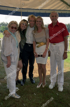 Charity Polo Match For Schizophrenia Charity 'Sane' at Smith's Lawn Robin Gibb with His Wife Dwina Murphy-gibb and His Mother Barbara and Father Hugh Gibb with Susan George