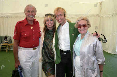 Stock Photo of Charity Polo Match For Schizophrenia Charity 'Sane' at Smith's Lawn Robin Gibb with His Wife Dwina Murphy-gibb and His Mother Barbara and Father Hugh Gibb