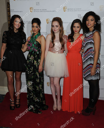 Children's British Academy Film and Television Awards at the Hilton Hotel Park Lane Jade Ramsey Tasie Lawrence Louisa Connolly Burnham Klariza Clayton and Alexandra Shipp - House of Anubis
