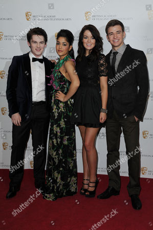 Children's British Academy Film and Television Awards at the Hilton Hotel Park Lane Brad Kavanagh Tasie Lawrence Jade Ramsey and Burkley Duffield - House of Anubis