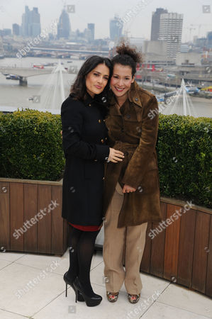 Chime For Change Photocall at the Corinthia Hotel Salma Hayek Pinault and Mariane Pearl