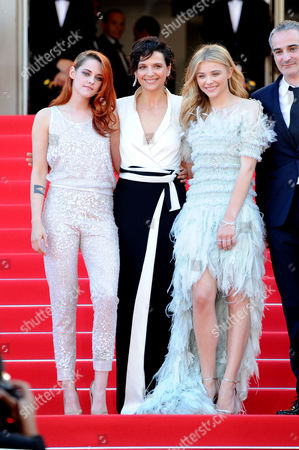 Clouds of Sils Maria Red Carpet at the Palais Des Festivals During the 67th Cannes Film Festival Kristen Stewart Juliet Binoche and Chloe Grace Moretz