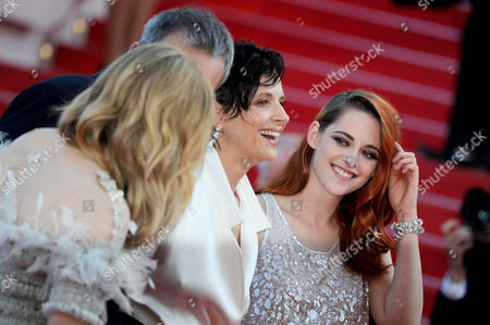 Clouds of Sils Maria Red Carpet at the Palais Des Festivals During the 67th Cannes Film Festival Juliet Binoche and Kristen Stewart